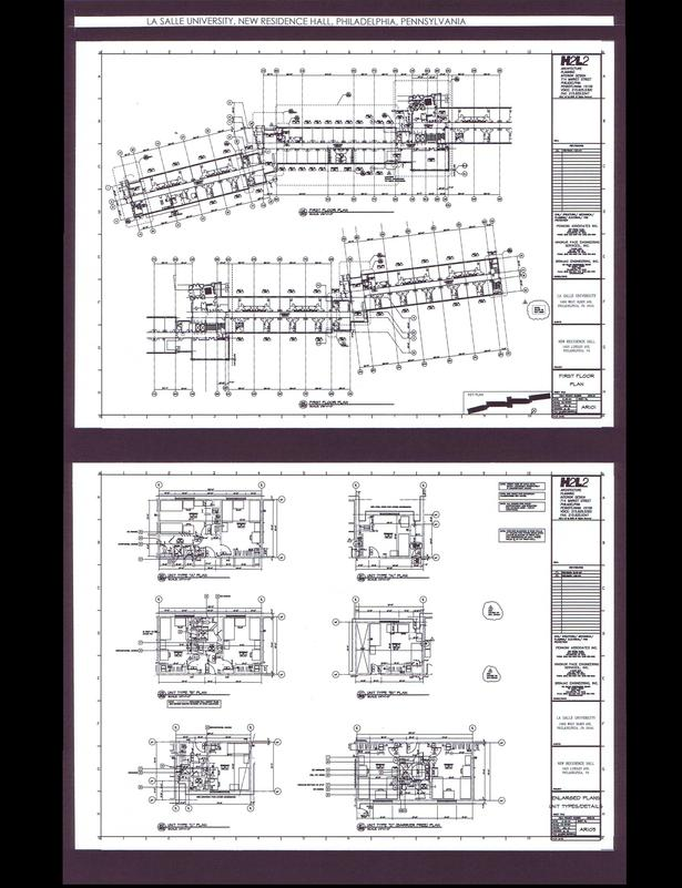 First Floor Building Plan and Enlarged Units Plans