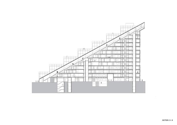 Section B-B. Copyright © Dark Arkitekter