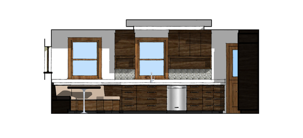 Proposed Kitchen North Elevation