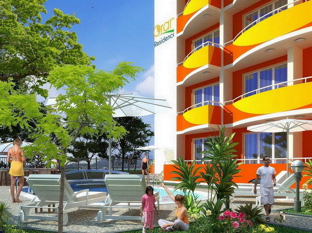 "Complex Of Holiday Apartments ""ORANGE Residence"" - visualization close view"