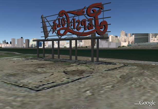 Pepsi-Cola Sign - Google Model by J. F. Bautista. LIC, NY