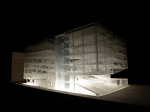 A south-east view of the project on my final model.