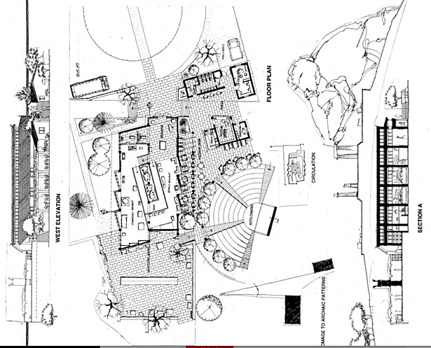 Summer Studio for a Museum for Temple of Aphea-Plan & Elevation