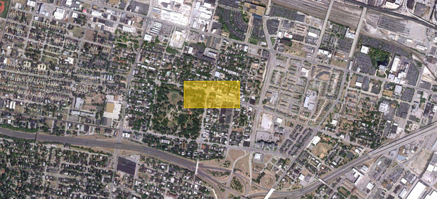 Satellite view of the Lafayette neighborhood.