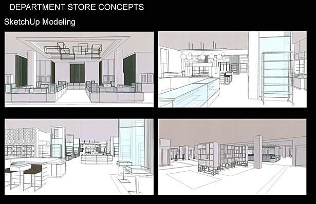 SketchUp Modeling Retail Environment