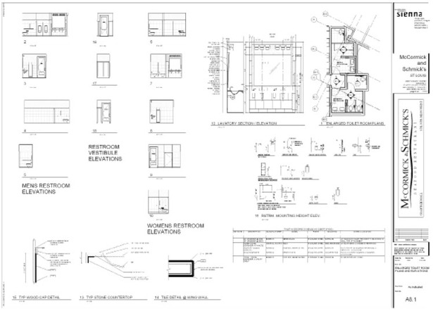 Sheet created using REVIT/BIM for McCormick & Schmick's