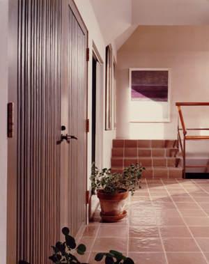 Custom doors into the residence