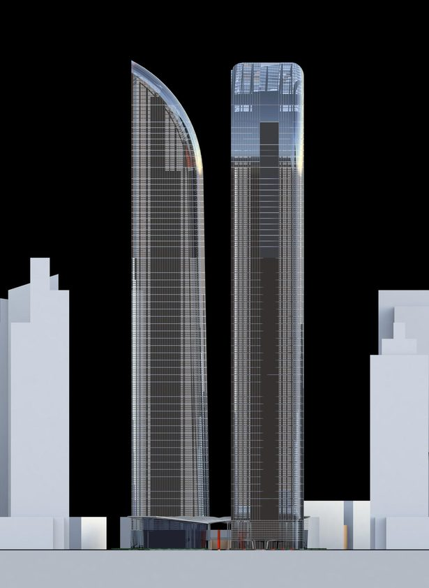 Greenland Yinchuan Super Tall Project, elevation by John Portman & Associates