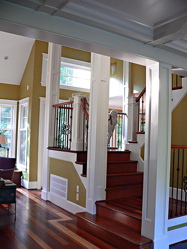 Foyer Stairs Jobs : Yenne custom home mel snyder archinect