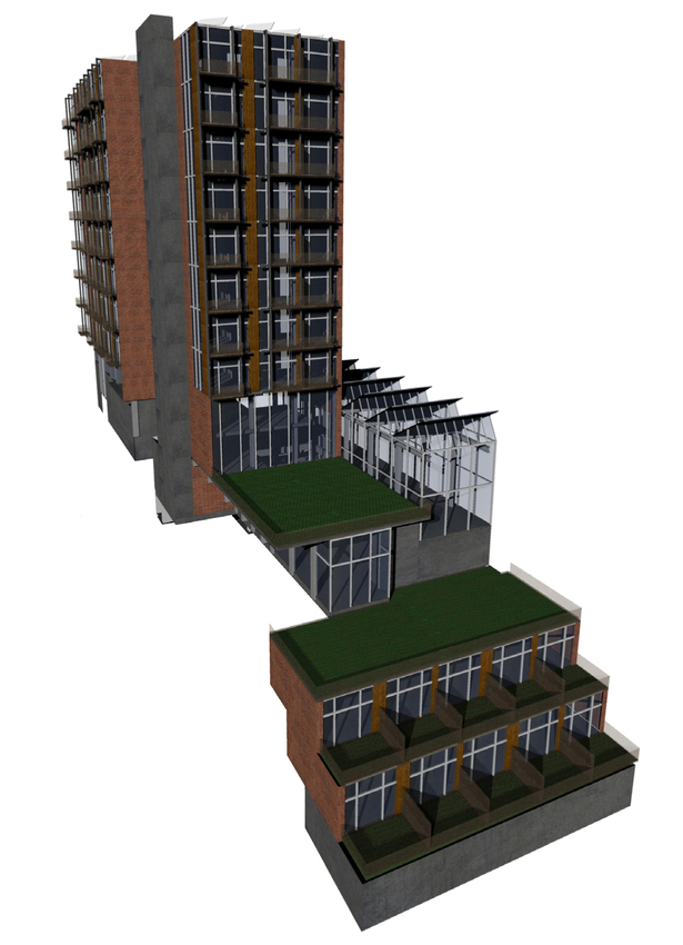 hotel overview (Rhino rendering)