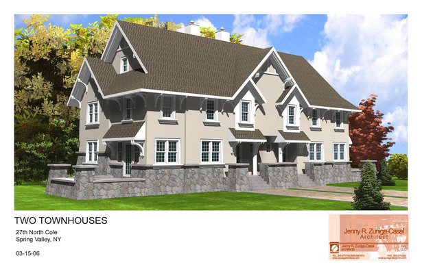 North Cole, Spring Valley, NY-Two Townhouses- Architect