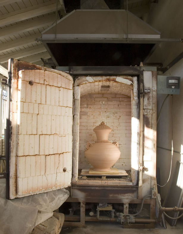 the gas kiln!