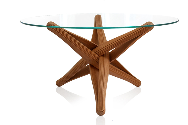 """LOCK""bamboo dinner-table by J.P.Meulendijks for PLANKTON"