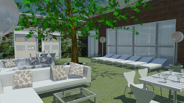 Urban eco-village outdoor dining area (communal space)