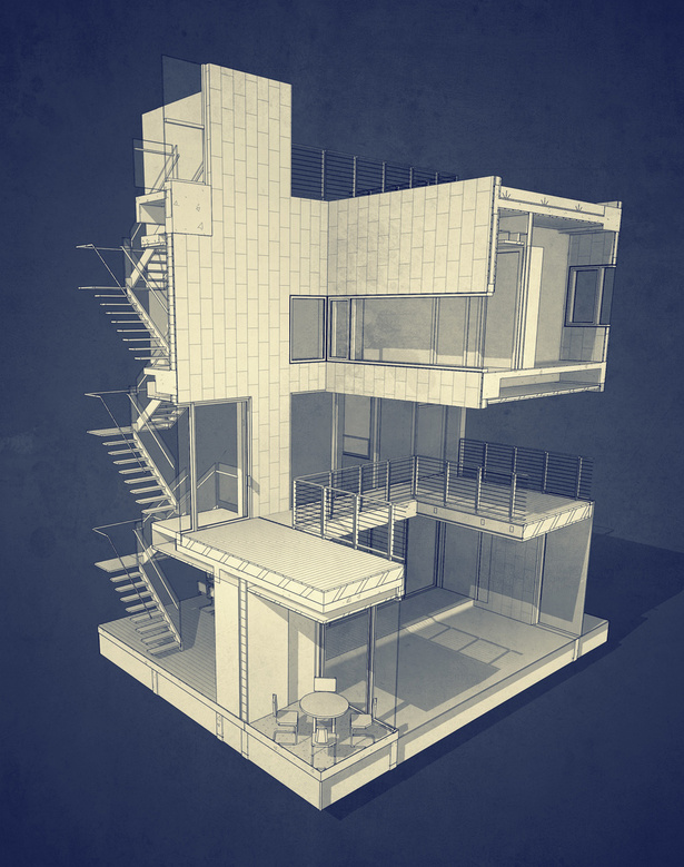 BIM model perspective section