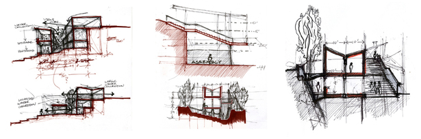 sectional process sketches