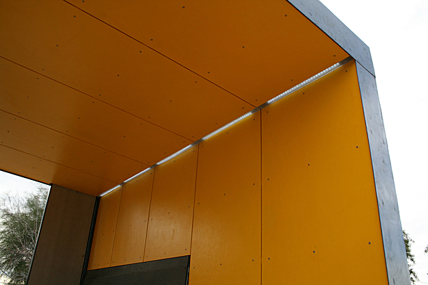east-facing shelter / fiber cement panels