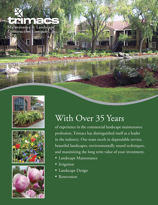 Trimacs Landscaping - Sell Sheet - Front