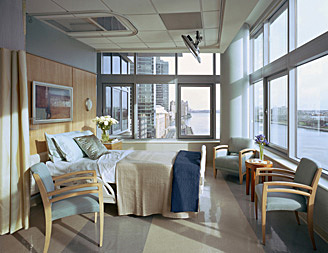 Patient Rooms facing the East River