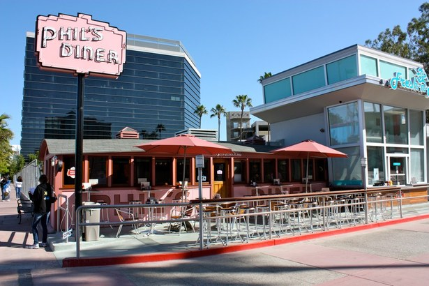 Phil's Diner and outdoor patio seating