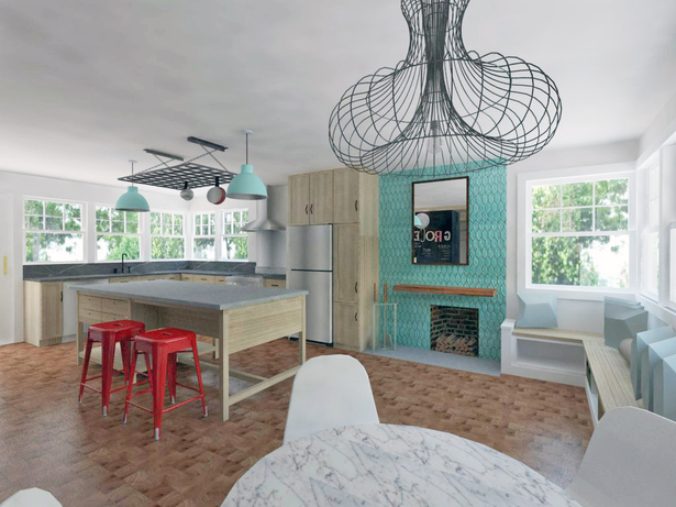 Kitchen interior rendering