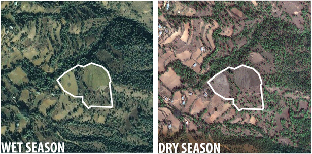 satellite images of site (Google Maps)