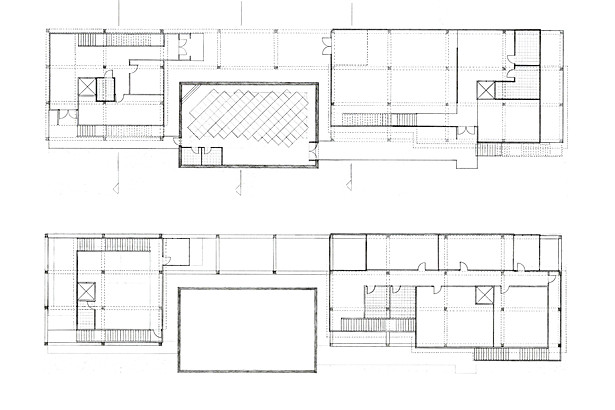 Plan, ground floor and 1st floor