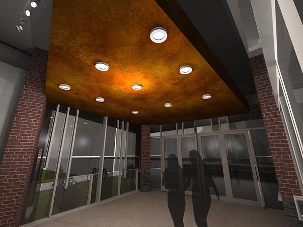 entrance - interior perspective