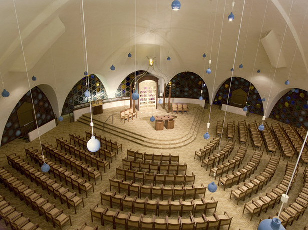 Aerial view of renovated Sanctuary