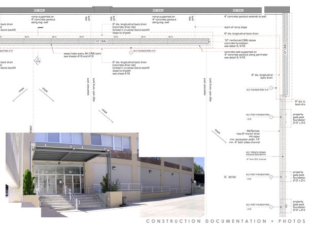 construction drawing and photo montage: plan