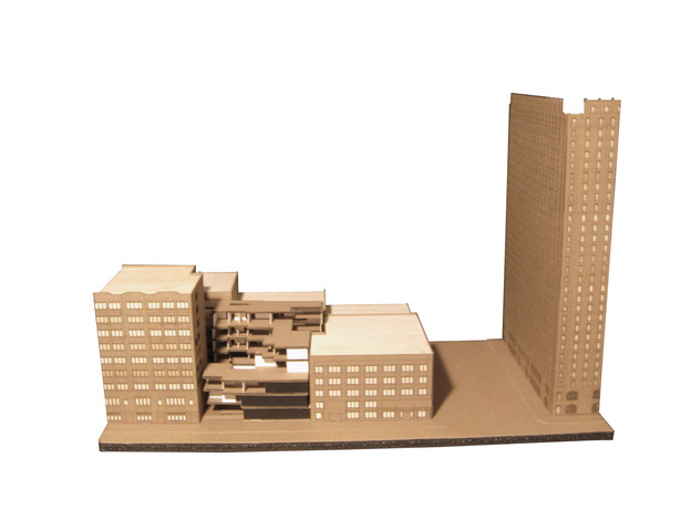 model of building within its initial context