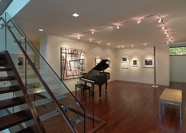 View of the second floor art gallery