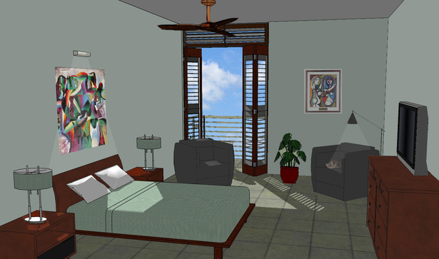 Master bedroom (interior)