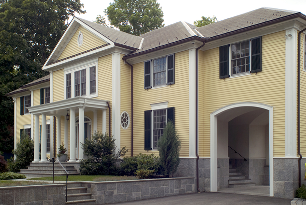 Front Elevation Colonial : New construction georgian colonial david boronkay