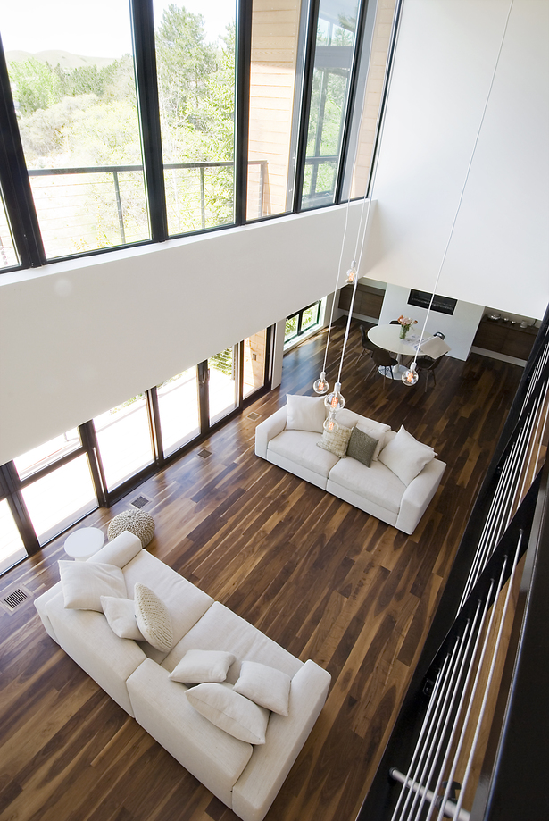 living room space from above