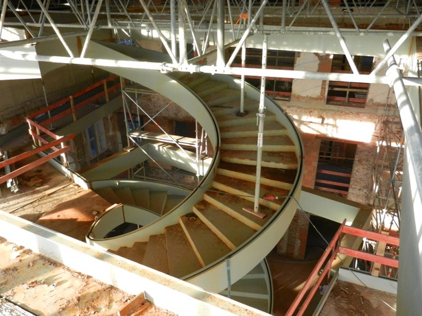 building site main stairs