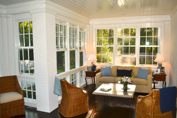 Enclosed Porch Sitting Area