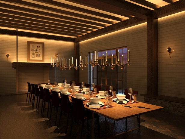 The austere decor in the private dining room is reminiscent of traditional brewing methods used by Trappist Monks