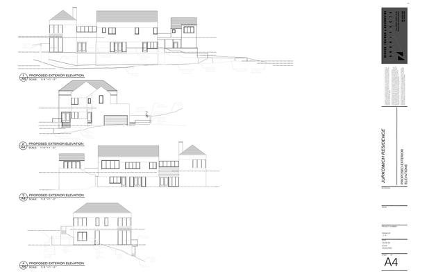 Jurkowich Residence Sheet A4 - Proposed Exterior Elevations