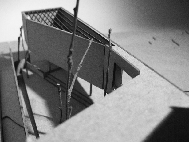 final model + view from back looking into garden
