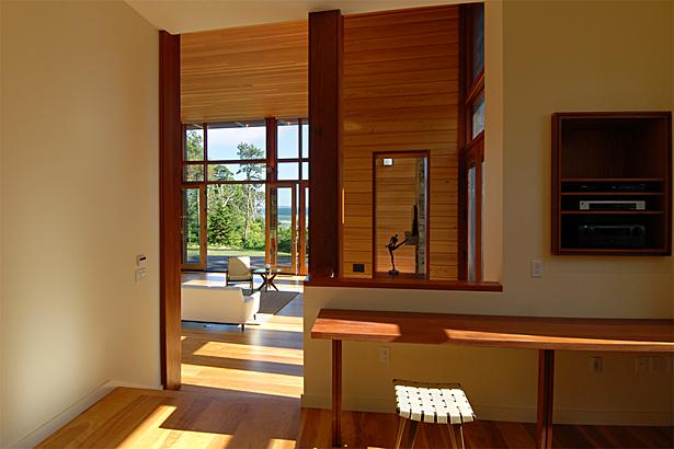 music room toward living room