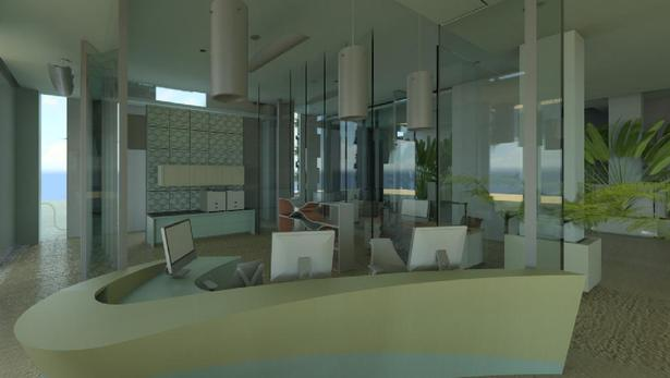 Preliminary Cloud Rendering of Reception/Sales Offices