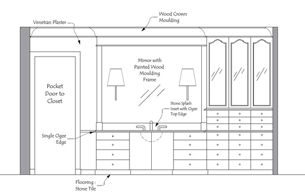 Master Bath Elevation