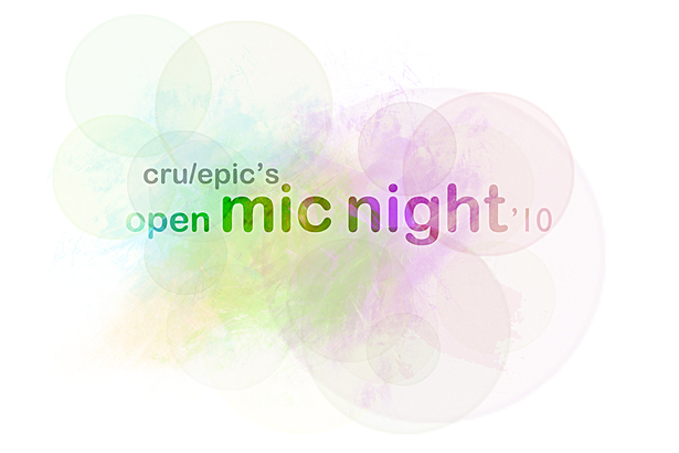 EPIC/Cru Open Mic Night Poster