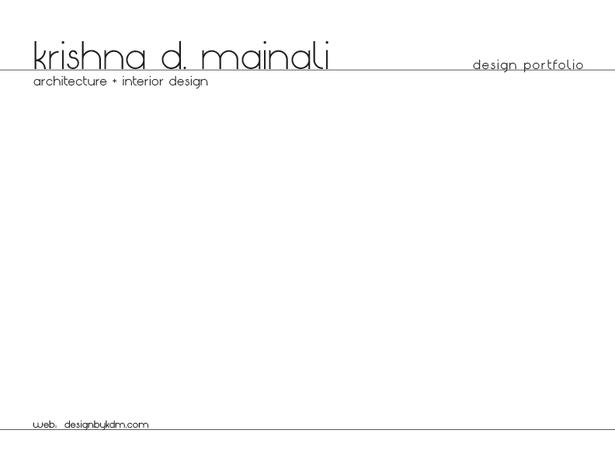 Design Portfolio- Pg.1