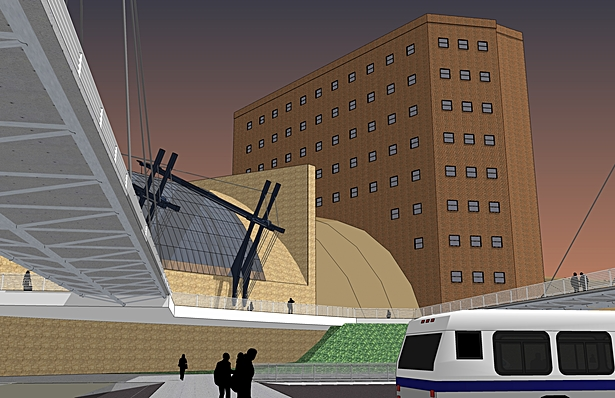 Exterior, Columbus International Transit Center