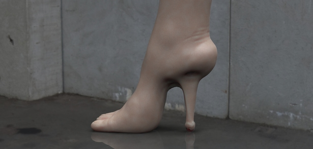 High heel foot