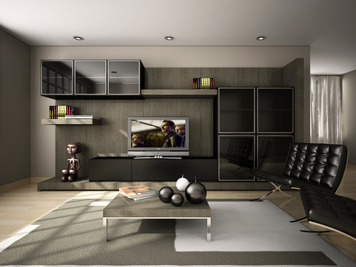 Proposed Interior - Private Residence - Rendering