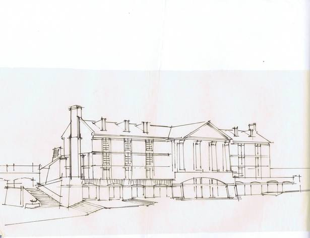 Sketch - Street Side Elevation