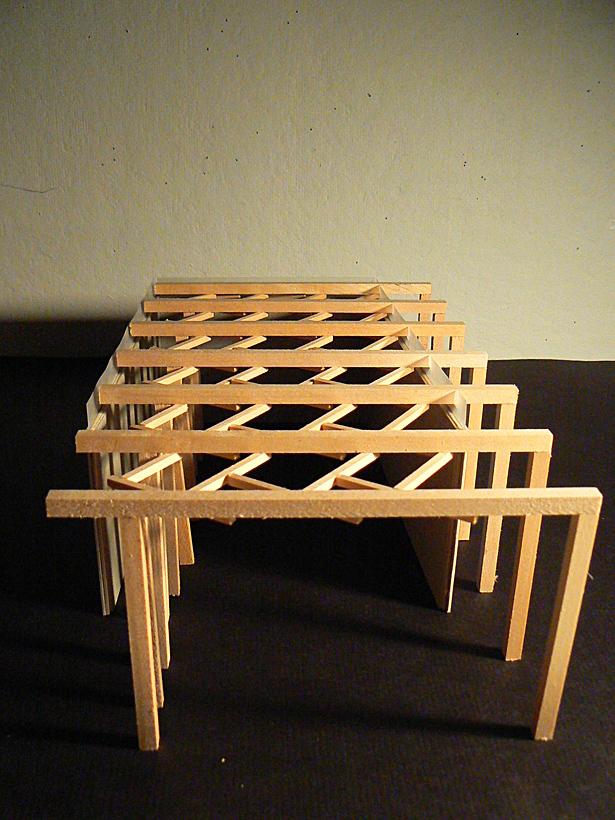 Model of roof
